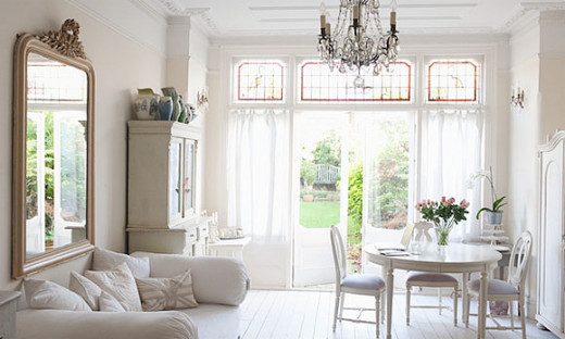 White works best in rooms with lots of light sources.