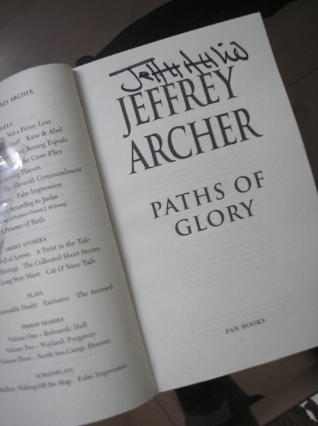 A signed copy by Jeffery Archer