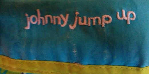 Close up of Johnny Jump Up stiching, a well-crafted toy