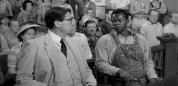 Atticus in court with Tom Robinson.