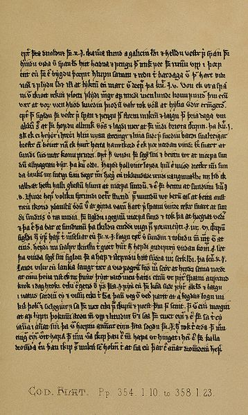 A page from the Flateyjarbok - the Flatey Book, part of the Orkneyinga Saga