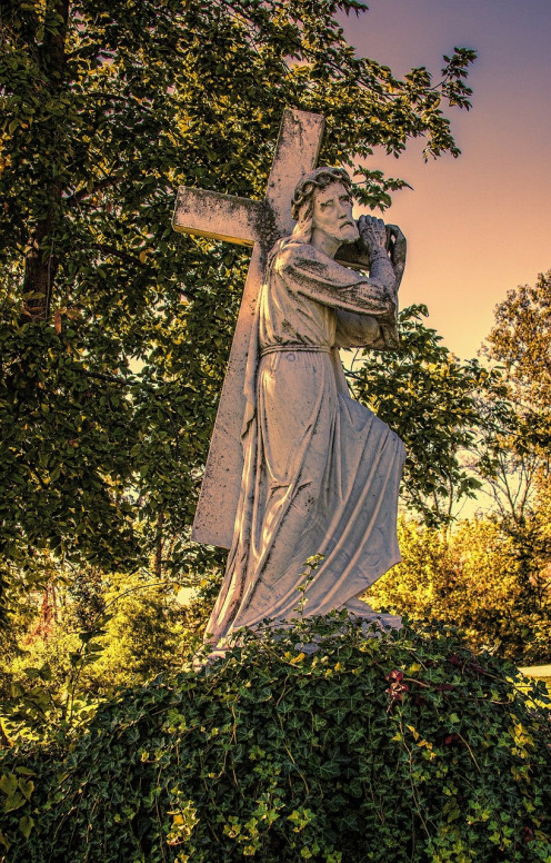 Jesus carrying a cross