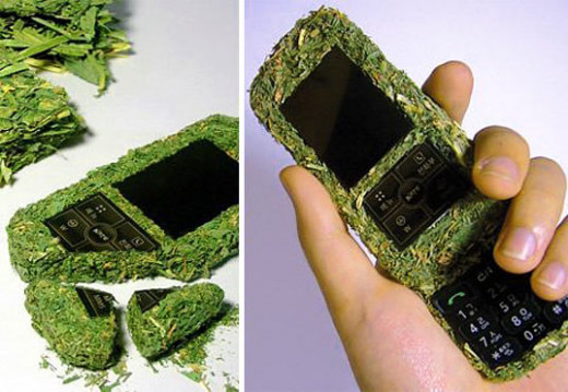If you like to be environmentally responsible then his eco-friendly grass phone may appeal to you. It is actually made from compressed grass and is designed to naturally come apart after its 2 year life span and to be totally bio-degradable.
