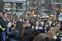 Bargain Hunters Queue for hours in New York hoping to find the bargain of the century.