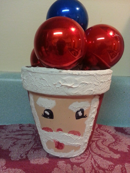 Santa clay pot made by my son when he was very young.