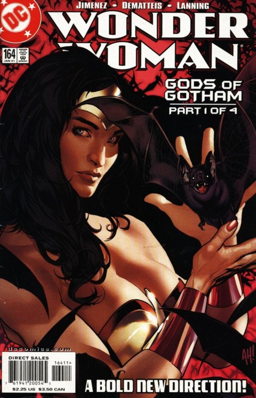 Wonder Woman #164 cover. Art by Adam Hughes.