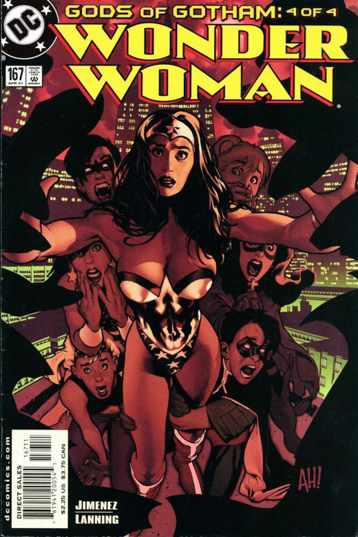 Wonder Woman #167 cover. Art by Adam Hughes.