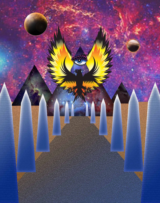 Initially created as an illustration to the book The Stairway to Heaven by Zecharia Zitchin, I now use it as my avatar.