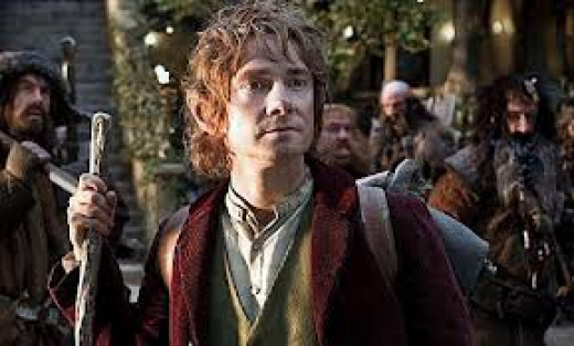 Martin Freeman stars as Bilbo Baggins in Peter Jackson's adaptation of The Hobbit.  Part II is called The Desolation of Smaug