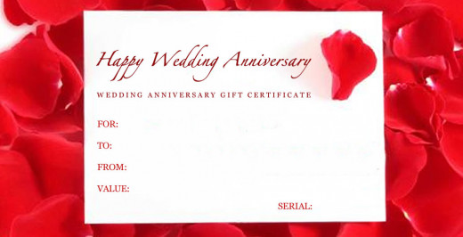 Charming Free Gift Certificate Template Wedding Anniversary  Anniversary Certificate Template