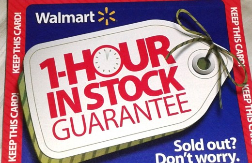 Walmart tried something new this year, guaranteeing their Black Friday price if you were in line within the hour of it going on sale.