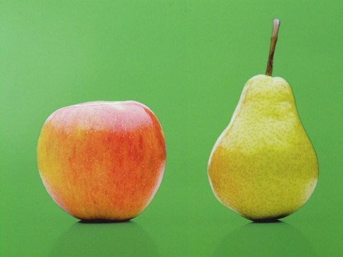 The pear may be substituted for the apple in a pie.