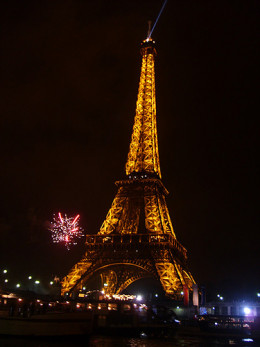 France's Eiffel Tower on New Year's Eve.