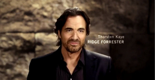 After a 15 month absence the role of Ridge Forrester was recast with Thorsten Kaye from the recently axed All My Children.