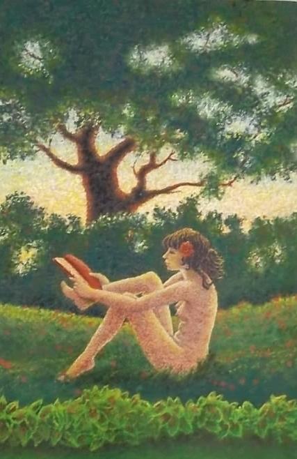 Folk art: The Country Damsel: Artist Mike Hunter
