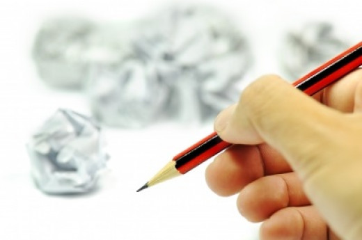 Writing and Crumpled Ideas
