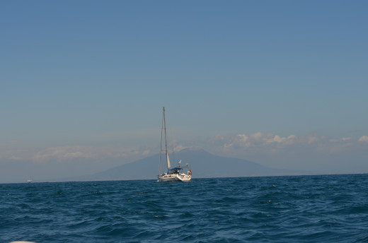 The waters of Capri, with Mount Vesuvius from Tony DeLorger
