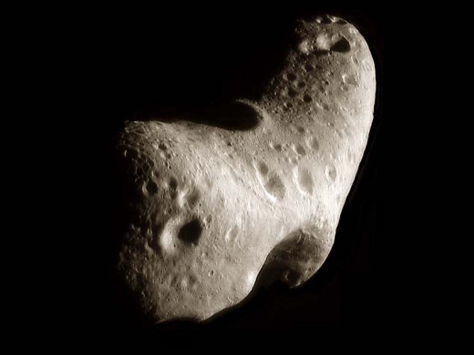 A picture of the Near-Earth asteroid known as Eros, that might slam into our world someday.