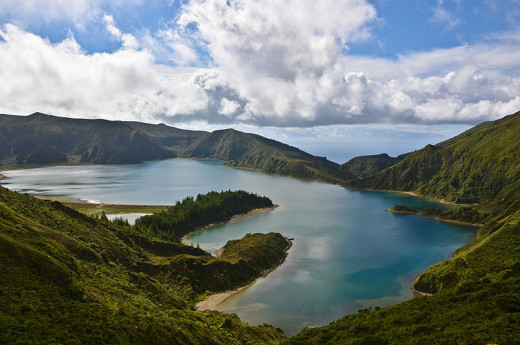 A view of Lagoa do Fogo, Azores, Portugal