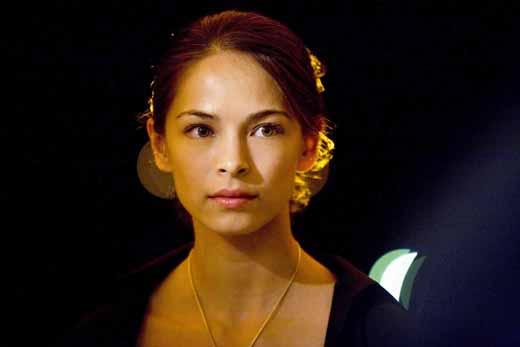 Close up photo screen cap of Kristin Kruek as Chun Li