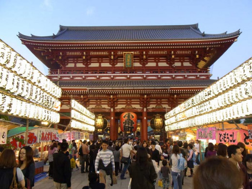 It is Japanese custom to visit a shrine or temple for New Year's prayers.