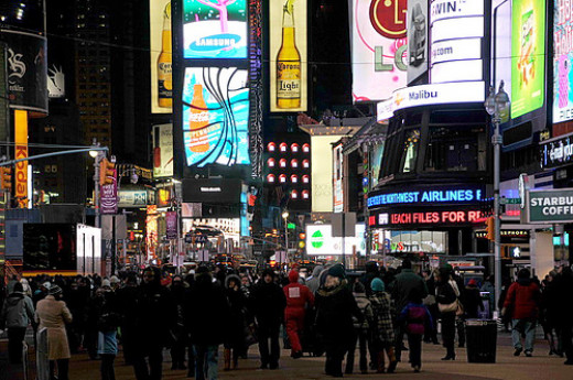 New Year's Eve in Time Square, New York City