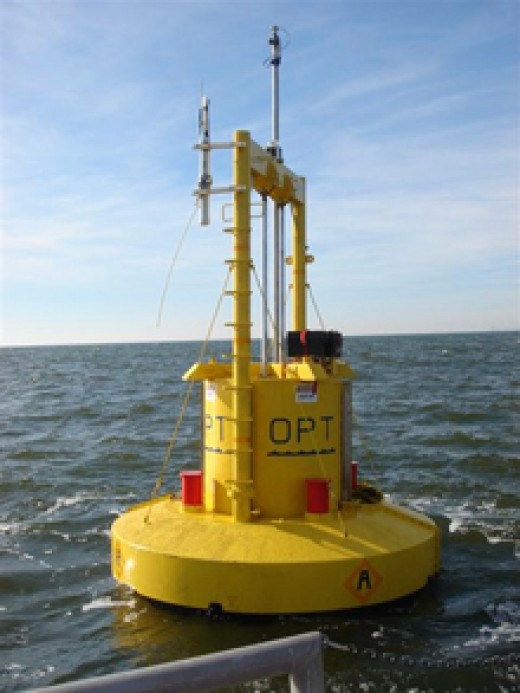 Buoys can be used as a warning of incoming waves, as well as producers of energy through surface tidal waves.