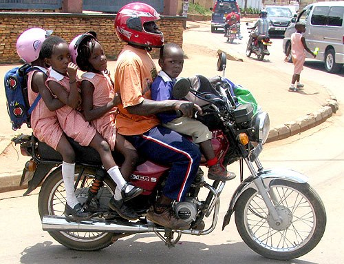 These Young Children beat the traffic Jam in order to be at School!
