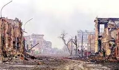 Grozny in 1995 after war