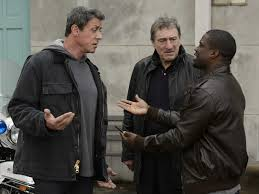 Kevin Hart (right) tries to convince Sylvester Stallone and Robert DeNiro to fight again after a 30 year absence from the boxing ring.