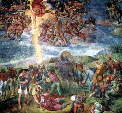 Conversion of St. Paul By Michelangelo Buonarroti  (1542-1545) Fresco Pauline  Chapel, Vatican, Europe