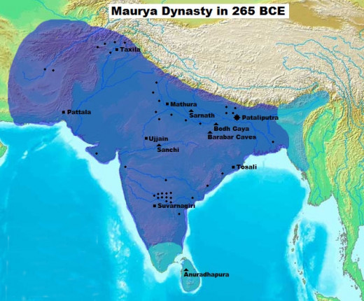 Mauyran Empire in 265 BCE