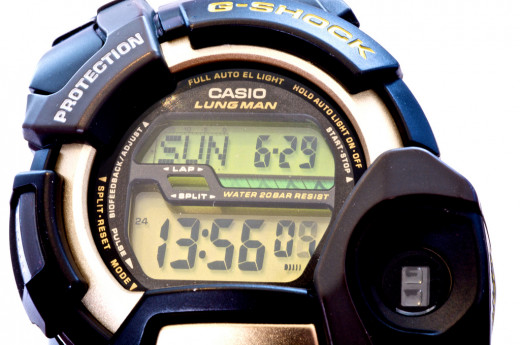 Digital watches are practical choices for active men.
