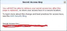 Secret Access Key