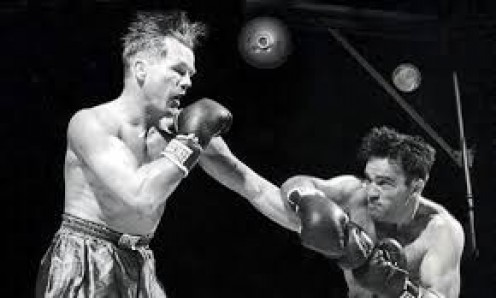 Marcel Cerdan knocked out Tony Zale to win the Middleweight world championship.