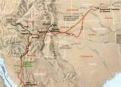 Map of Coronado's travels
