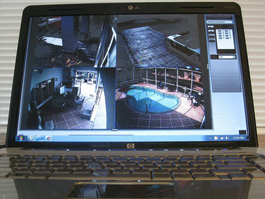 Some security camera systems can be set up to show footage on your computer or smart phone. This comes in handy.