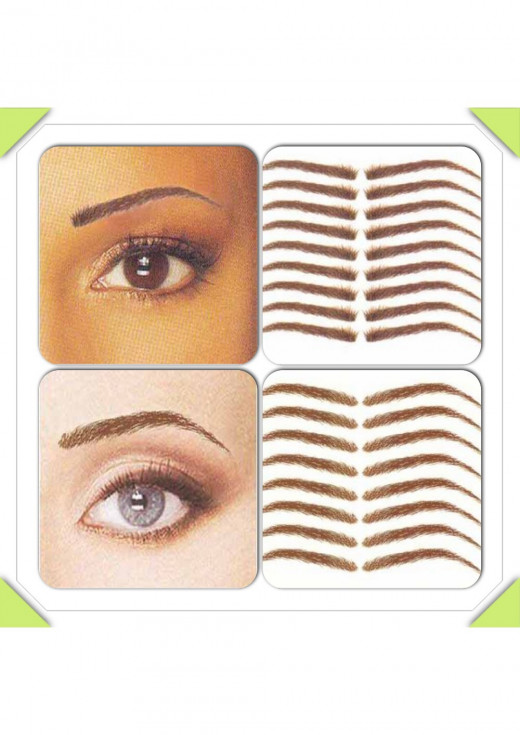 Shanell Brows (top left & right) and the Rose Brows (bottom left & right)