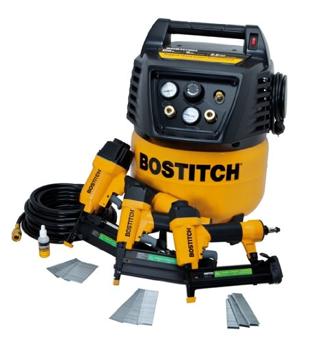 This Bostitch is a great little compressor suited for home use, and it comes with a handy accessory kit to get you started.