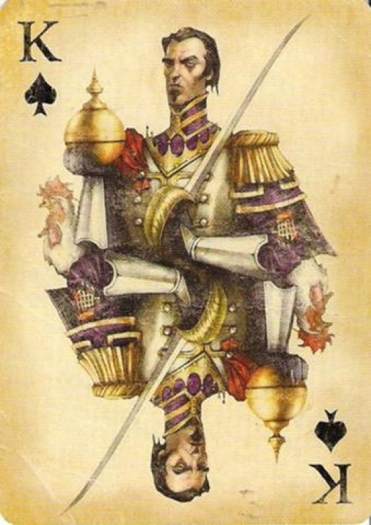 King Buck Eye the King of Spades  Source: http://static2.wikia.nocookie.net/__cb20110322015711/fable/images/5/5a/King_of_Spades.jpg