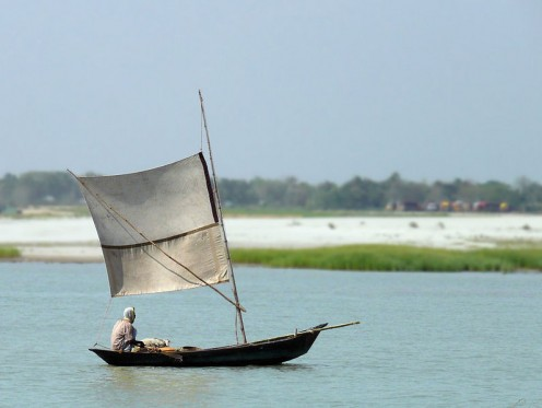 Boat In River of Bangladesh