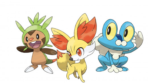 The Starters of Pokemon Y