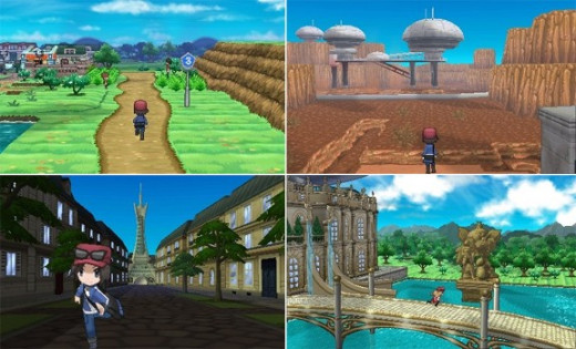 A Few Different Areas of the Kalos Region