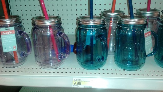 Just went to Target and saw a plastic version of our mug with a straw! This one is $10!!