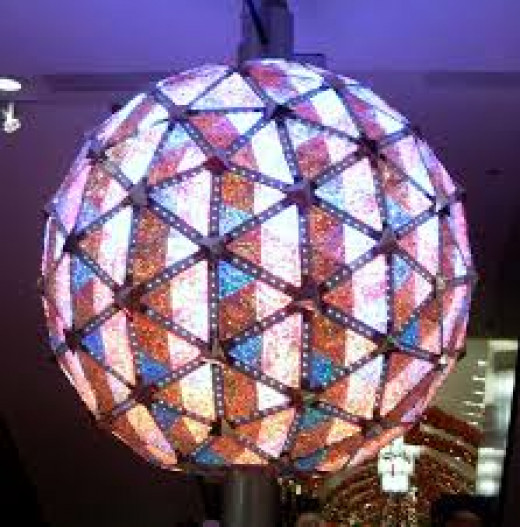Waterford crystals and LED lights cover the heavy ball in Times Square