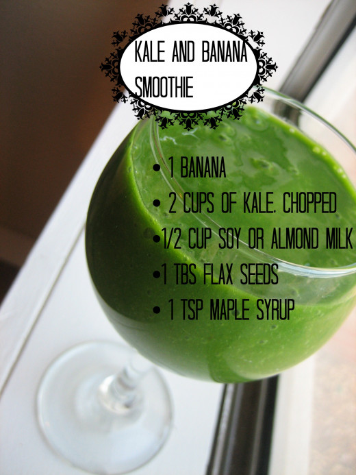 Raw Green Smoothie Recipes: Kale and Banana