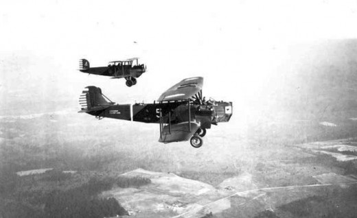 These Keystone B-4As serving with the 31st Bombardment Squadron are typical of the bombers employed by the USAAC during the twenties and early thirties.