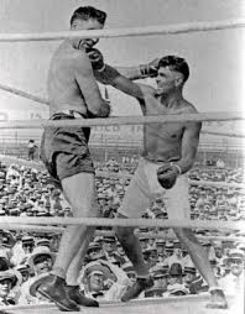 Jack Dempsey slaughtered Jess Willard for the heavyweight championship of the world.