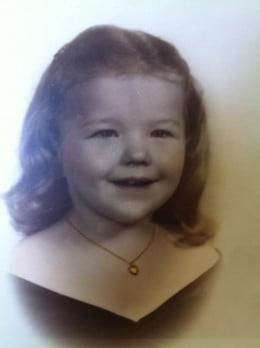 My Beloved Aunt Sissy as a Child.  I will miss her always.