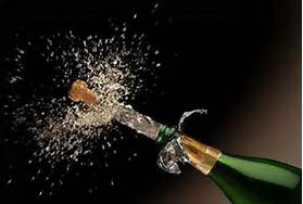 Drinking Bubbling Champagne